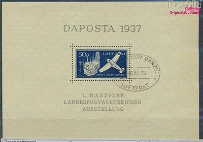 Gdansk block2b first-day stamp fine used / cancelled 1937 DAPOSTA (7783696