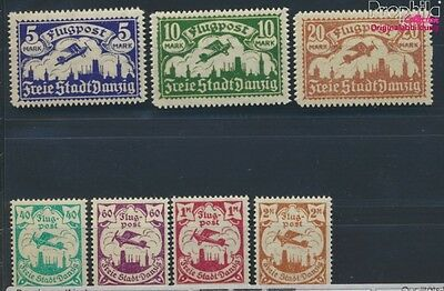Gdansk 112-118 puncture, perforation possibly. errors MNH 1923 Airmail (8731580