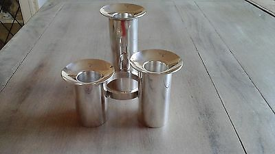 Vintage  Arthur Price Silver Plated  Cylindrical Candle holder, 3 Sconce