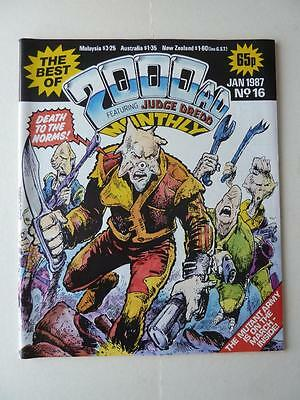 The Best Of 2000AD Featuring Judge Dredd Monthly No 16 1987 VGC