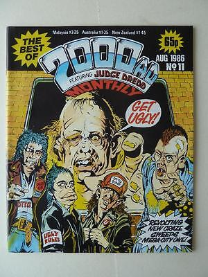 The Best Of 2000AD Featuring Judge Dredd Monthly No 11 1986 VGC