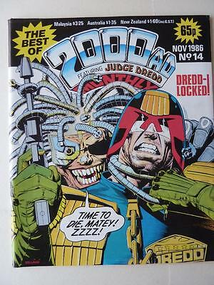 The Best Of 2000AD Featuring Judge Dredd Monthly No 14 1986 VGC