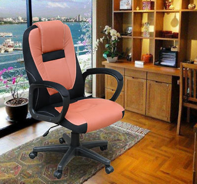 Swivel Executive Computer Office Chair Leather Seat Back Desk Chair