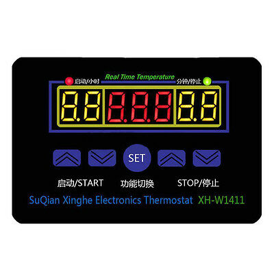 XH-W1411 DC 12V Multi-functional Temperature Controller Thermostat Switch I5W8