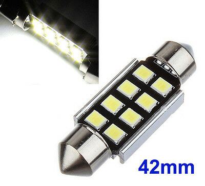 2x Sofitte Soffitte 8 SMD 3528 LED 42MM Weiss CANBUS Innenraum Lampe 12V DC