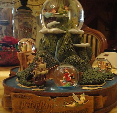 Peter Pan 50th Anniversary Snowglobe LE 500 for Disney Auctions RARE