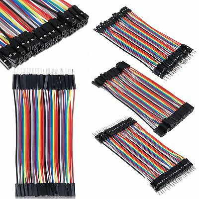 40Pcs/Wire Row Jumper Cable Male to Male/Female Female to Female for Arduino~