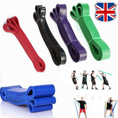 Resistance Bands Exercise Loop Crossfit Strength Weight Training Fitness 5-175LB