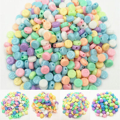 16 Shapes 50/100PCS Loose Beads For Girls Necklace Bracelets Fashion Jewelry