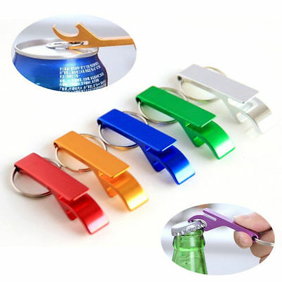 3pc Key Chain Beer Bottle Can Opener Beverage Keychain Ring Claw Bar Pocket Tool