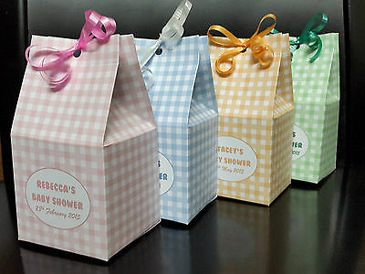 10x Cute personalised baby shower christening birthday party favour gift boxes