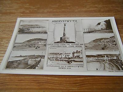 Early Card -   A 7 View Card Of  Aberystwyth  North Wales    Unused Card  Vgc