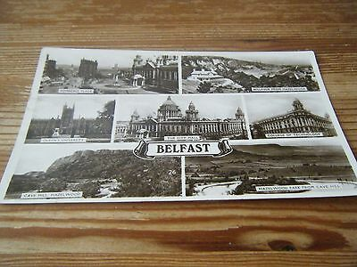 EXCEL SERIES  1940  RP CARD  -   A  7  VIEW  CARD  OF  BELFAST  - No 26  FRANKED