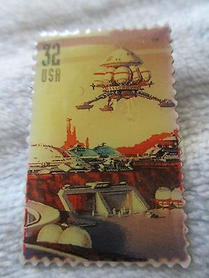 USPS  SPACE DISCOVERY USA 32 Cents Stamp Tie Lapel Pin 1998