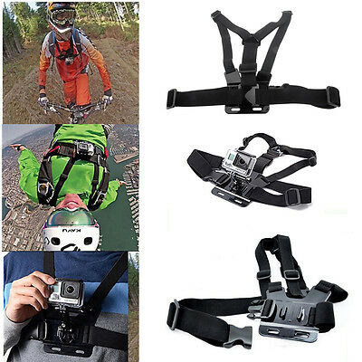 For GoPro Hero 1 2 3 3+ 4 SJ4000 Camera Adjustable Chest Belt Strap Mount Strap