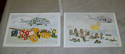 Westland Helicopters Eh101 Merlin Helicopter Christmas Cards (Used) Royal Navy