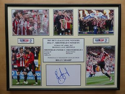 2016-17 Sheffield United Champions Display Signed by Billy Sharp (11064)