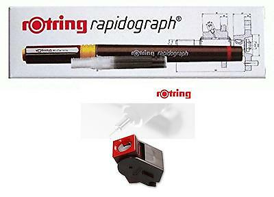 ROTRING RAPIDOGRAPH 0,40 mm + PEN-STATION -TECHNICAL DRAWING PEN - ART. 155 082