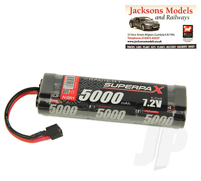 Radient RDNA0102 7.2V Battery 6-Cell 5000mAh NiMH Stick for RC Car