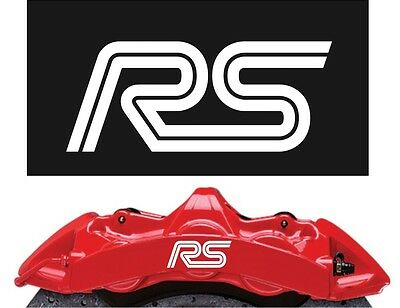 Ford RS Brake Caliper Decals Stickers x6 , Focus ST, fiesta, various colours