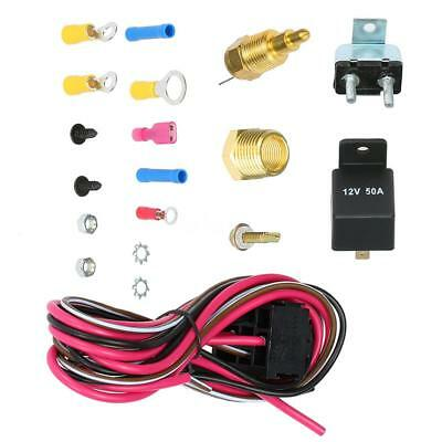 185-170 Degree Electric Cooling Fan Wiring Install Relay Kit Thermostat NEW N4R5