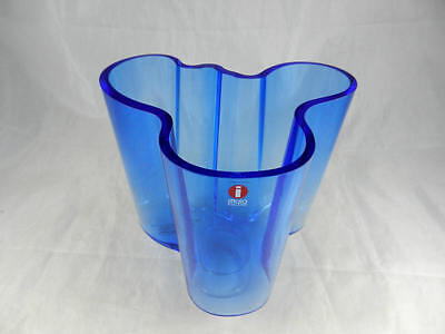 Fabulous Special Edition Iittala Aalto  Special Edition Cobalt Blue Crystal Vase