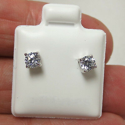 1.00ct Brilliant Round Cut Delicated Stud Womens Earrings 14k White Gold Over