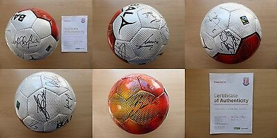 2014-15 Stoke City Squad Signed Football with Official COA (11068)