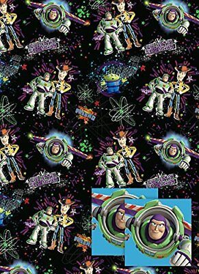 Toy Story Wrapping Paper & Tags - 2 Gift Wrap Sheets & 2 Tags