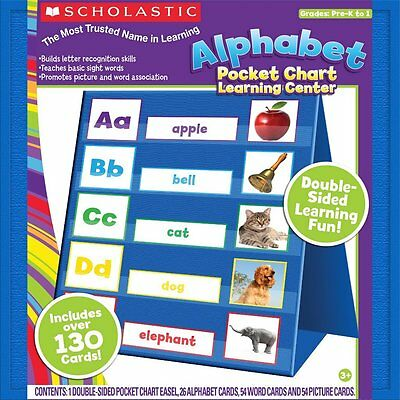 NEW! Scholastic Alphabet Pocket Chart Activity Center ~ Includes Over 130 Cards