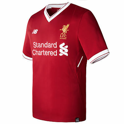 Liverpool Home Mens Official Short Sleeve New Balance Football Top Shirt 2017-18