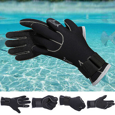 3mm Neoprene Gloves for Diving Surfing Spearfishing Snorkeling Warm Gloves DH