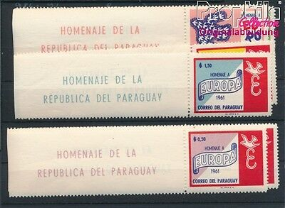 Paraguay 986-992 unmounted mint / never hinged 1961 Europe (8940430