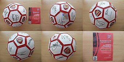 2010-11 Arsenal Squad Signed Football with Official COA (11070)