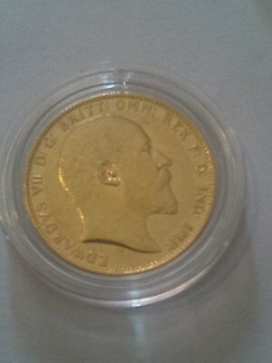 Full Gold Sovereign Coin 1908 King Edward VII