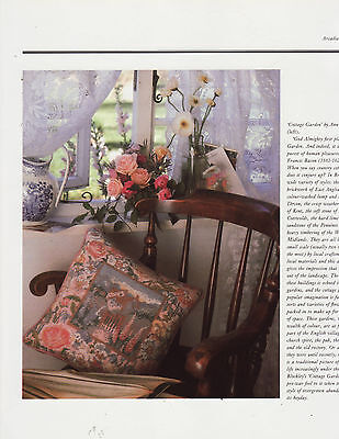 Cottage Garden Ann Blockley Cushion Tapestry Needlepoint Chart in Colour