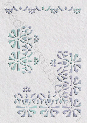 Border Lace Stencil Vintage Shabby Chic Wedding Cake Furniture Fabric Craft BO7