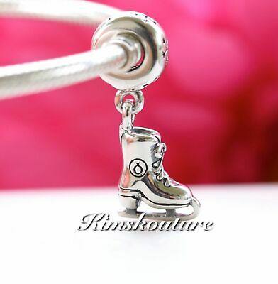 Authentic Pandora Sterling Silver Ice Skate Dangle Charm 791025