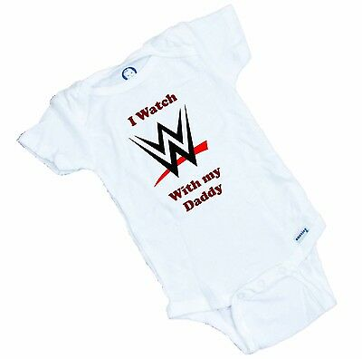 I watch WWE with my Daddy  Fan Funny   Romper / Onesie Funny Gift