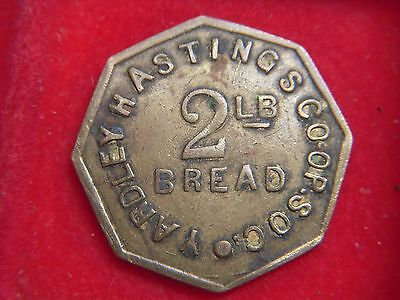A  TOKEN FROM  YARDLEY HASTINGS  CO-OPERATIVE SOCIETY FOR ONE 2lb LOAF  [R84]