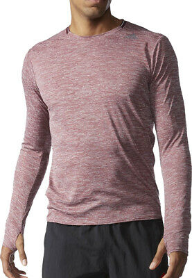 adidas Supernova Long Sleeve Mens Running Top - Red