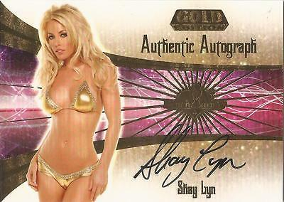 """Benchwarmer 2007 Gold Edition -  #11 of 30 """"Shay Lyn"""" Auto / Autograph Card"""