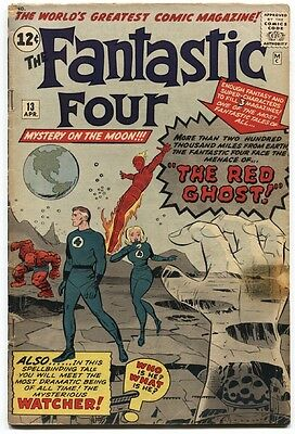 Fantastic Four #13 1963.- 1st Watcher- Kirby- Key issue VG-