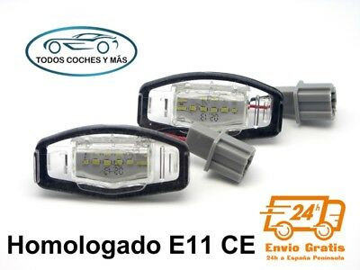 Plafones Led Matricula Honda Civic Accord Homologado E11 Ce Luces Luz Envio 24H