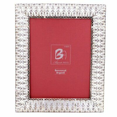 925 Sterling Silver Picture Frame  Embroidery  7 x 9