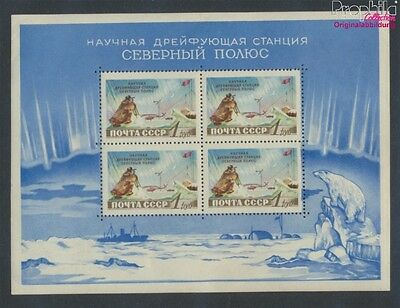 Soviet-Union Block27 MNH 1958 north pole-Station (9027347