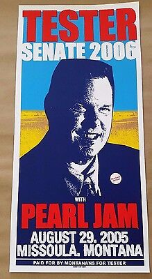 Pearl Jam Missoula Montana 2005 Concert Poster Tester Ames Ament RARE