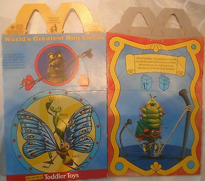 McDonald Happy Meal Box, McDonalds Verpackung a bugs life UNBENUTZT 1998