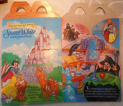 McDonald Happy Meal Box, McDonalds Verpackung Snow White A UNBENUTZT 1992