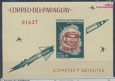 Paraguay Block37 unmounted mint / never hinged 1963 Space (7660472